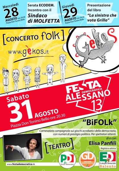 Festa Democratica Alessano 2013