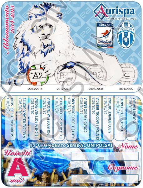 Tessera Pallavolo Azzurra 15