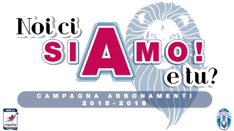 Campagna Abbonamenti 2015-16 Pallavolo Azzurra