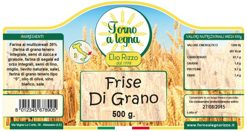Etichetta Prodotti Forno Rizzo